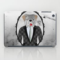 english bulldog iPad Cases featuring Mr. Dandy - English Bulldog by Rozenblyum Couture