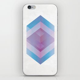 3D Geometric Cubes iPhone Skin
