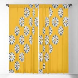 Dahlias on Mustard Blackout Curtain