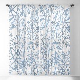 Helping Stars Blue Sheer Curtain