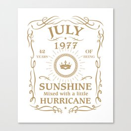 July 1977 Sunshine Mixed With A Little Hurricane Canvas Print