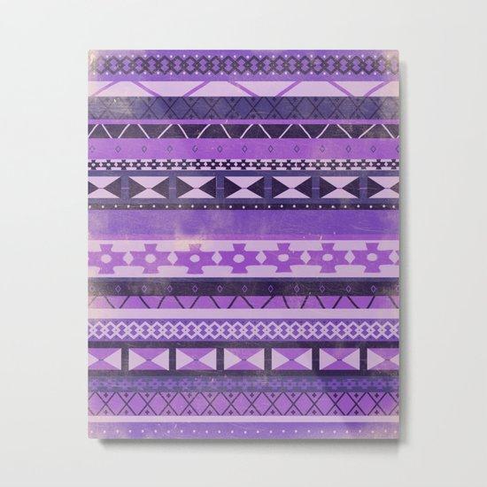Native Spirit (Purple) Metal Print