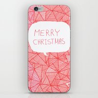 merry christmas iPhone & iPod Skins featuring Merry Christmas! by Fimbis