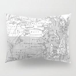 Vintage Map of Rhode Island (1827) BW Pillow Sham