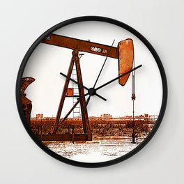 West Texas Pumpjack Wall Clock