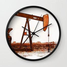 West Texas Pumpjack Wall Clock