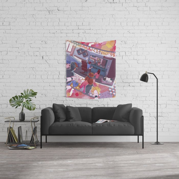 Virtual simulation Wall Tapestry