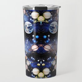 Vibrant mirrored Universe pattern Travel Mug