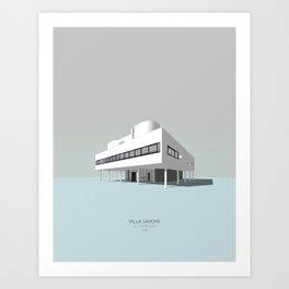 Villa Savoye - Le Corbusier Art Print