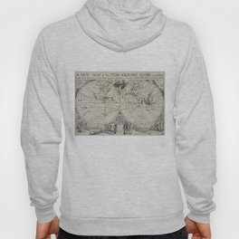 Vintage Map of The World (1700) 2 Hoody