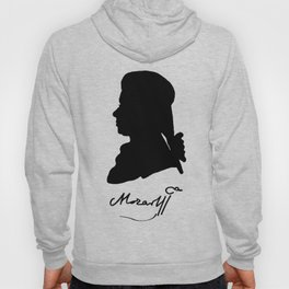 Wolfgang Amadeus Mozart (1756 -1791) silhouette, engraved by Hieronymous Löschenkohl, 1785 Hoody