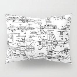 F-18 Blueprints Pillow Sham