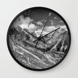 Dolomites - Rosengarten group Wall Clock