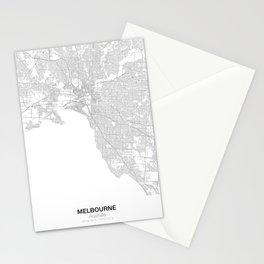 Melbourne, Australia Minimalist Map Stationery Cards