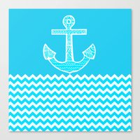 anchor Canvas Prints featuring Anchor by haroulita