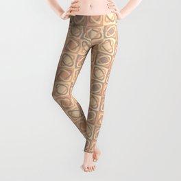 Modern Shapes Pattern (Tints of Bisque) Leggings