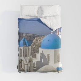 Santorini, Oia Village, Greece Duvet Cover