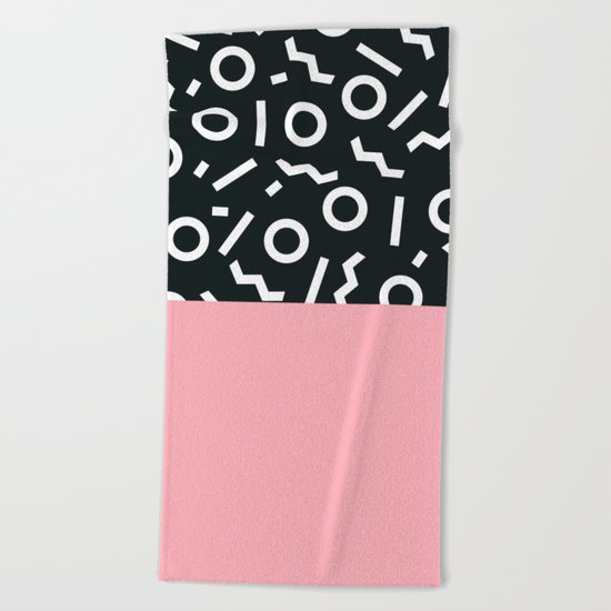 Memphis pattern 50 Beach Towel