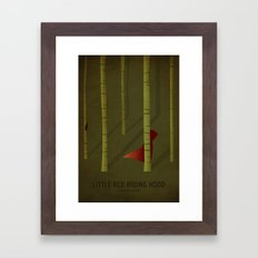 Little Red Ridding Hood Framed Art Print