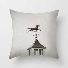 Horse Weathervane Throw Pillow