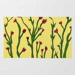 Long flowers Rug
