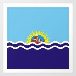 Flag of Santa Cruz Art Print