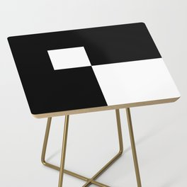 Black and White Color Block #2 Side Table