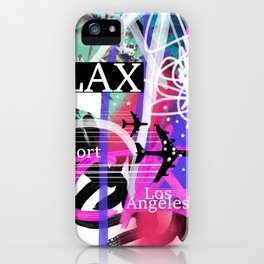 LAX Los Angeles airport code iPhone Case