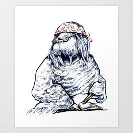 David Foster Walrus T-Shirt Art Print