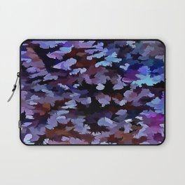 Foliage Abstract In Blue and Lilac Tones Laptop Sleeve