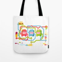 food Tote Bags featuring Food by Fightstacy