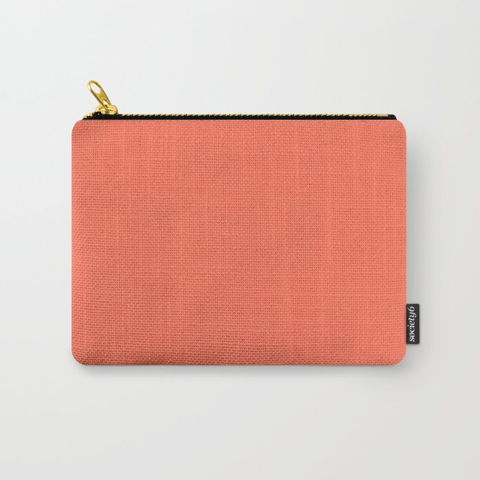 Simply Deep Coral Carry-All Pouch