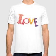 LOVE Mens Fitted Tee White MEDIUM