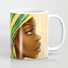 Green Yellow Wrap Coffee Mug