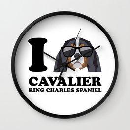 I Love Cavalier King Charles Spaniel modern v1 Wall Clock