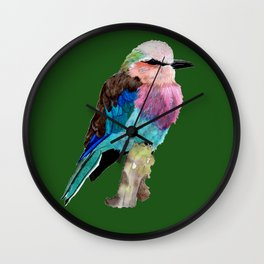 Lilac Breasted Roller Bird Wall Clock