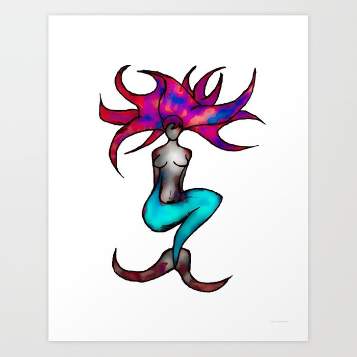 """""""Merfolk"""" Art Print"""