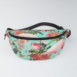 Floral and Flemingo IV Pattern Fanny Pack
