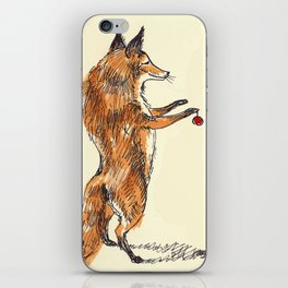Christmas Fox iPhone Skin