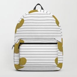 Golden Hearts and Thin Stripes Backpack