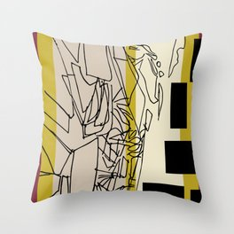 Space between Throw Pillow
