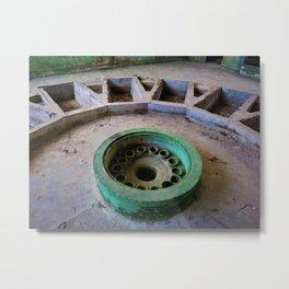 Gather Around - old teal fountain photo Metal Print