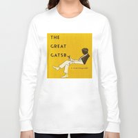 gatsby Long Sleeve T-shirts featuring The Great Gatsby by MW. [by Mathius Wilder]