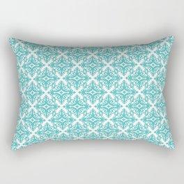 Damask (Teal & White Pattern) Rectangular Pillow