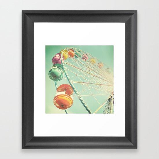 Rainbow Wheel Framed Art Print