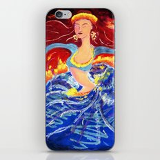 Blue Snake Arms Aflame iPhone & iPod Skin
