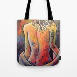 Abstract Art Original Nude Woman Girl Painting ... The Company You Keep Tote Bag