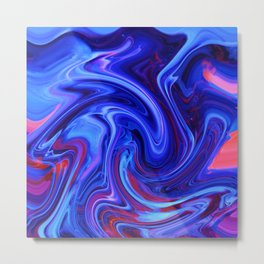 Raging Blue Waters Metal Print