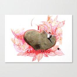 I Love Climbing Canvas Print