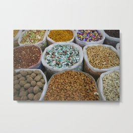 Arabic Sweets and nuts on markt Metal Print